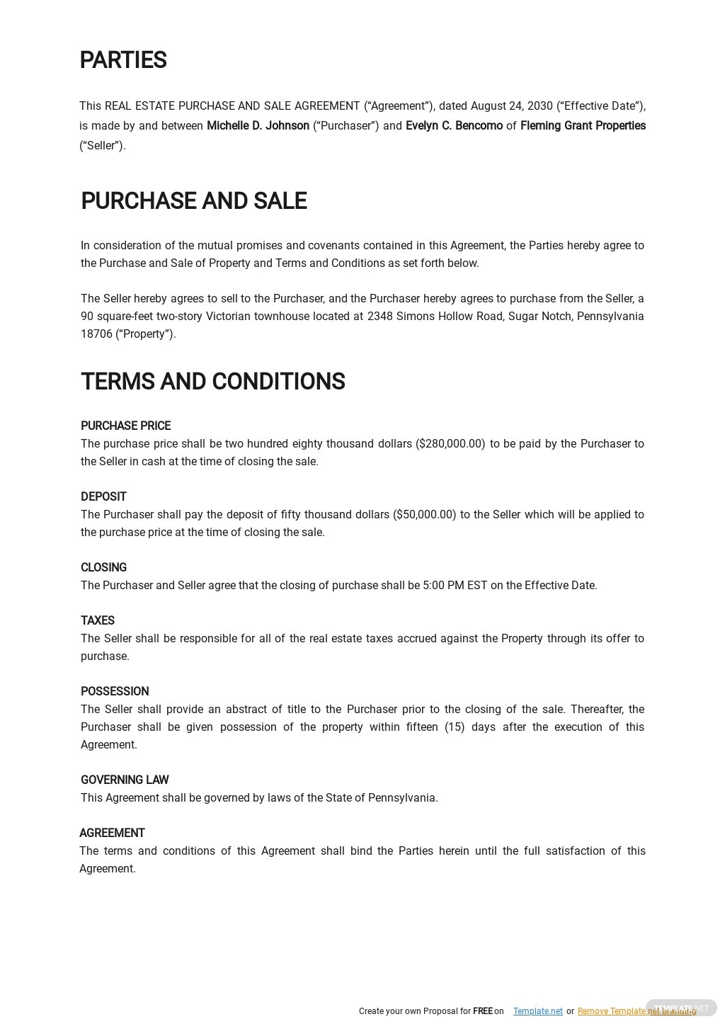 Real Estate Purchase and Sale Agreement Template 1.jpe