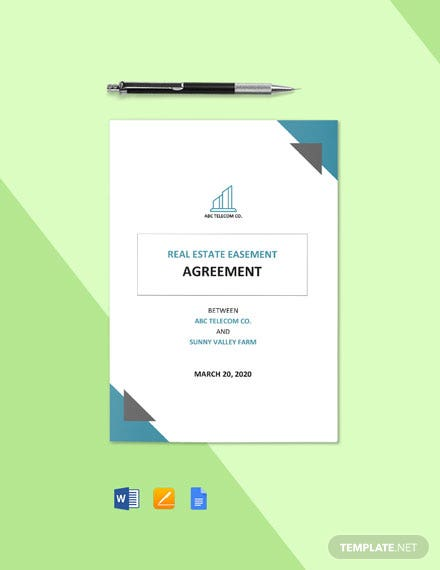 Real Estate Easement Agreement Template