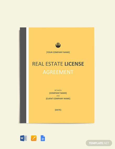Real Estate License Agreement Template