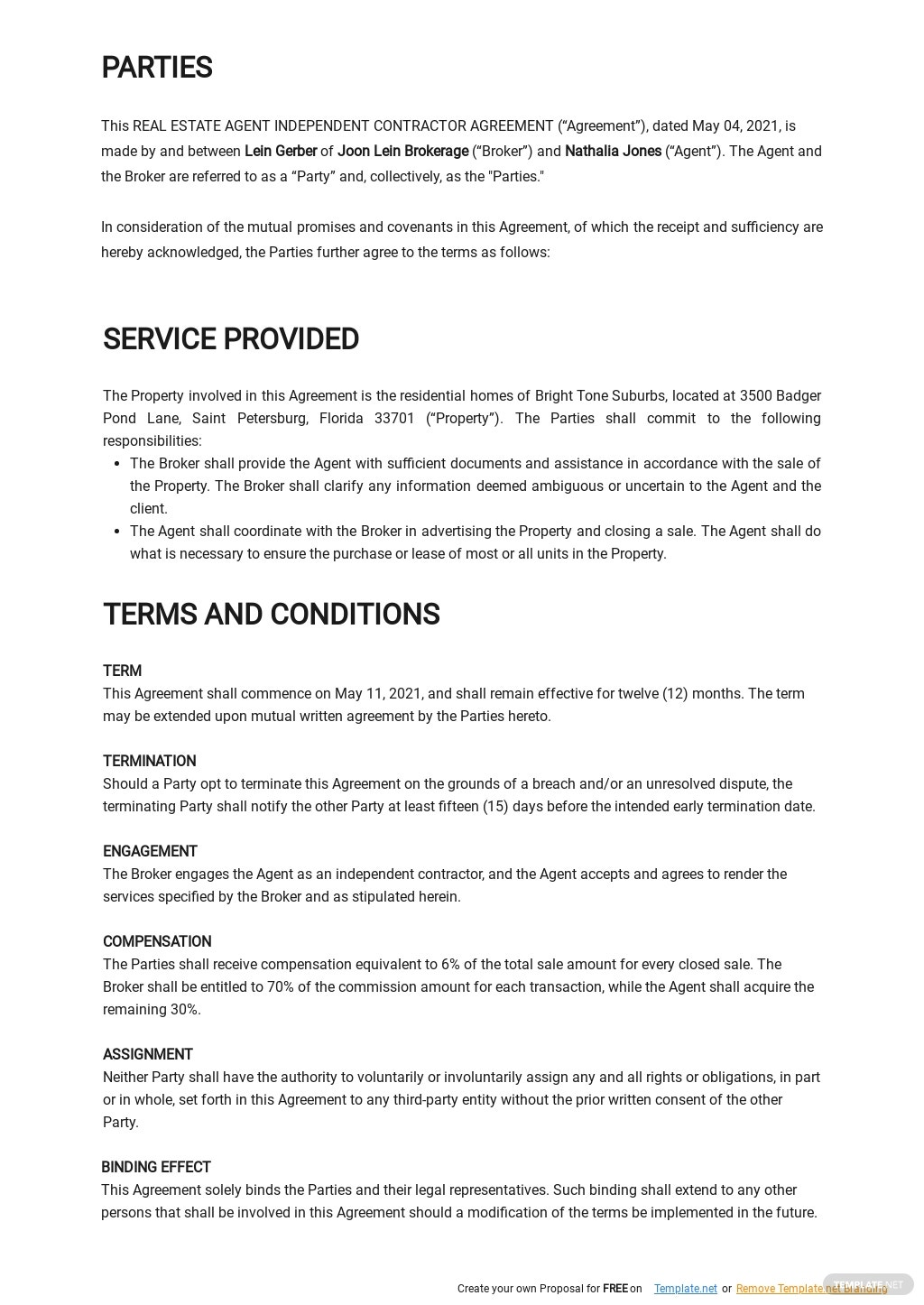 Real Estate Agent Independent Contractor Agreement Template 1.jpe