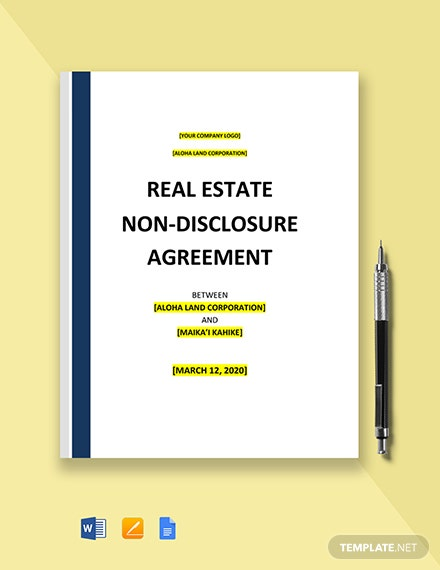 Commercial Real Estate Non-Disclosure Agreement Template