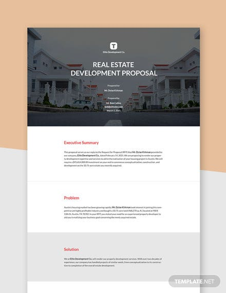 Editable Real Estate Development Proposal Template