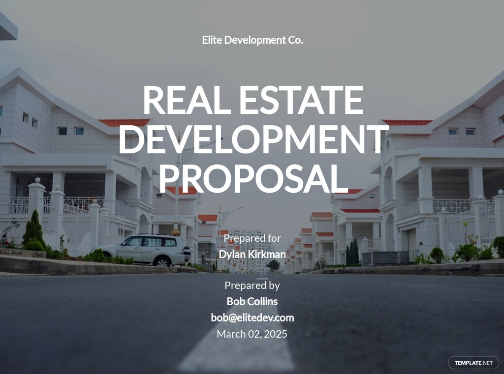 Real Estate Development Proposal Template