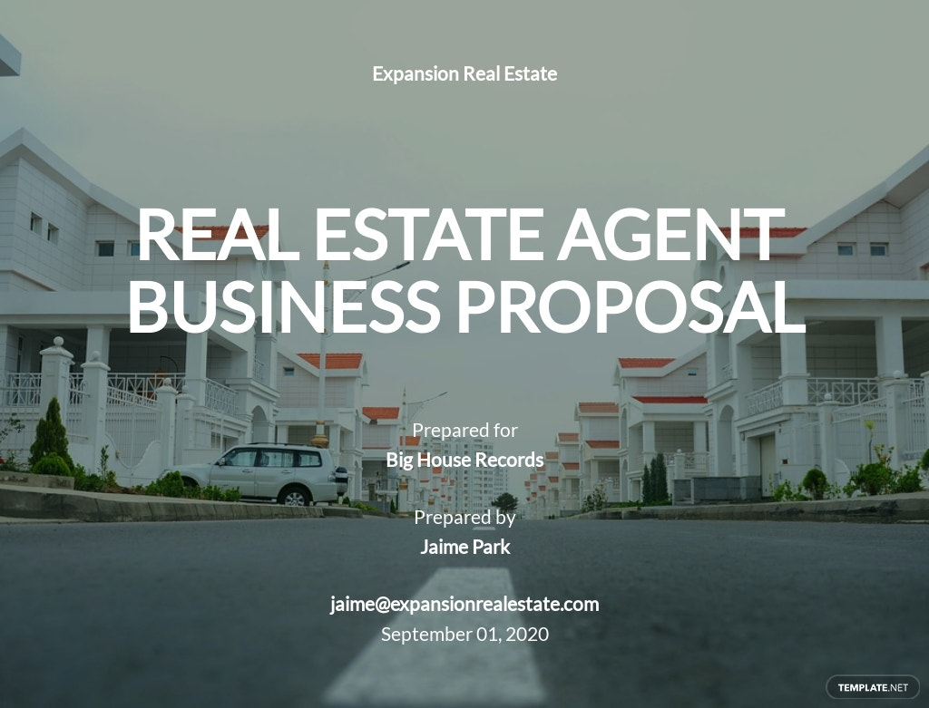 Real Estate Agent Business Proposal Template