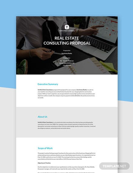 Editable Real Estate Consulting Proposal Template