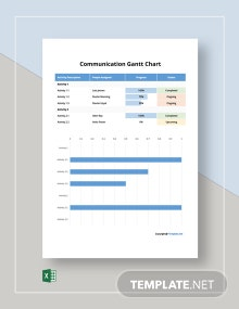 Free Simple Communication Gantt Chart Template