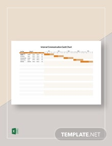 Internal Communication Gantt Chart Template