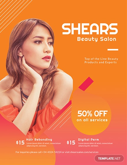 Free Beauty Care Flyer Template