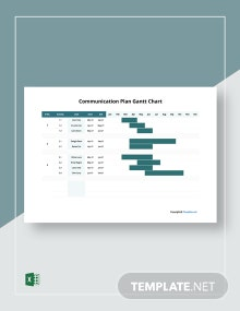 Free Basic Communication Gantt Chart Template