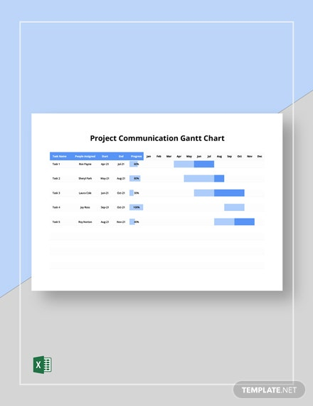 Project Communication Gantt Chart Template