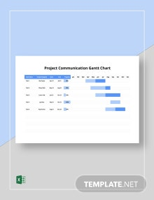 Project Communication Gantt Chart Template