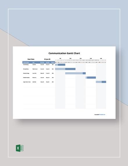 Sample Communication Gantt Chart Template