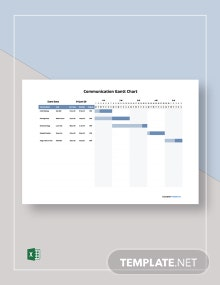 Free Sample Communication Gantt Chart Template