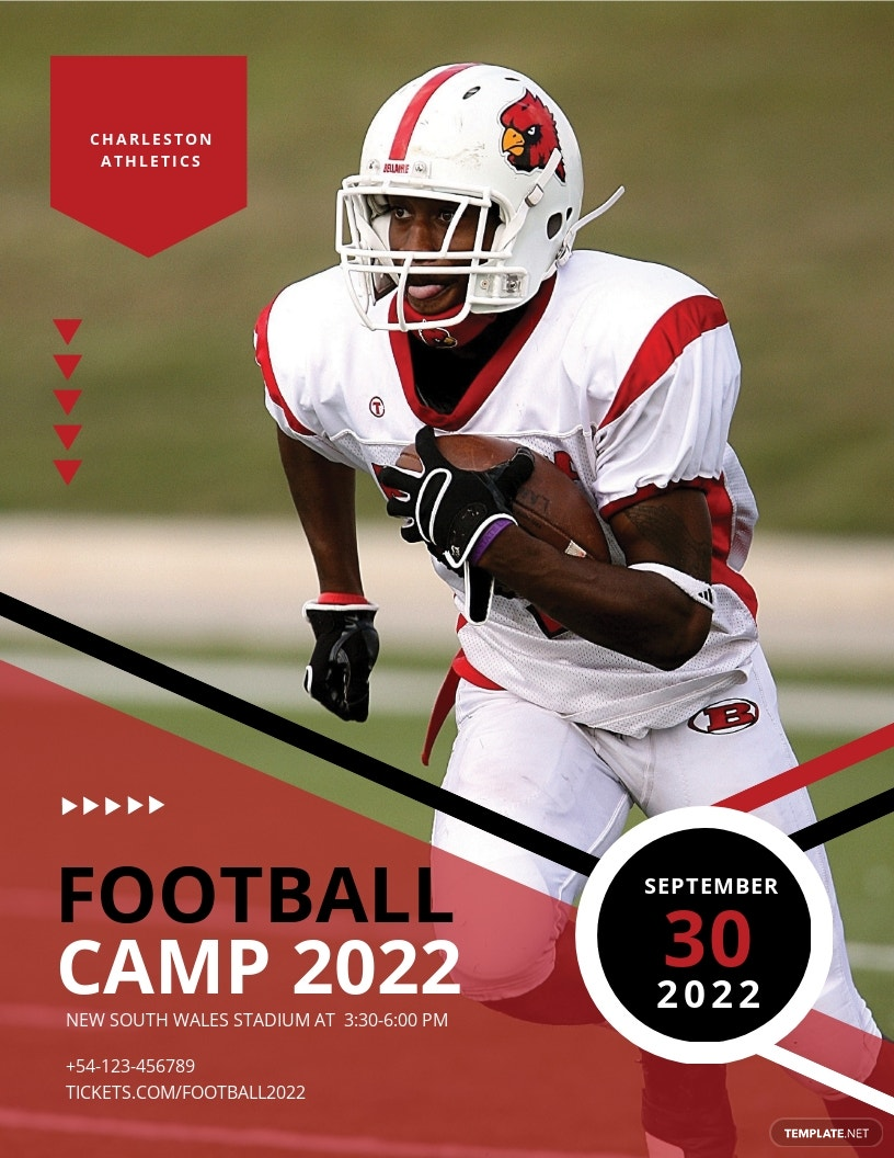 FREE Football Camp Flyer Template