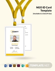 Free NGO Employees ID Card Template