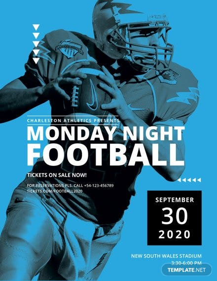 Football Flyer Template Free Templates