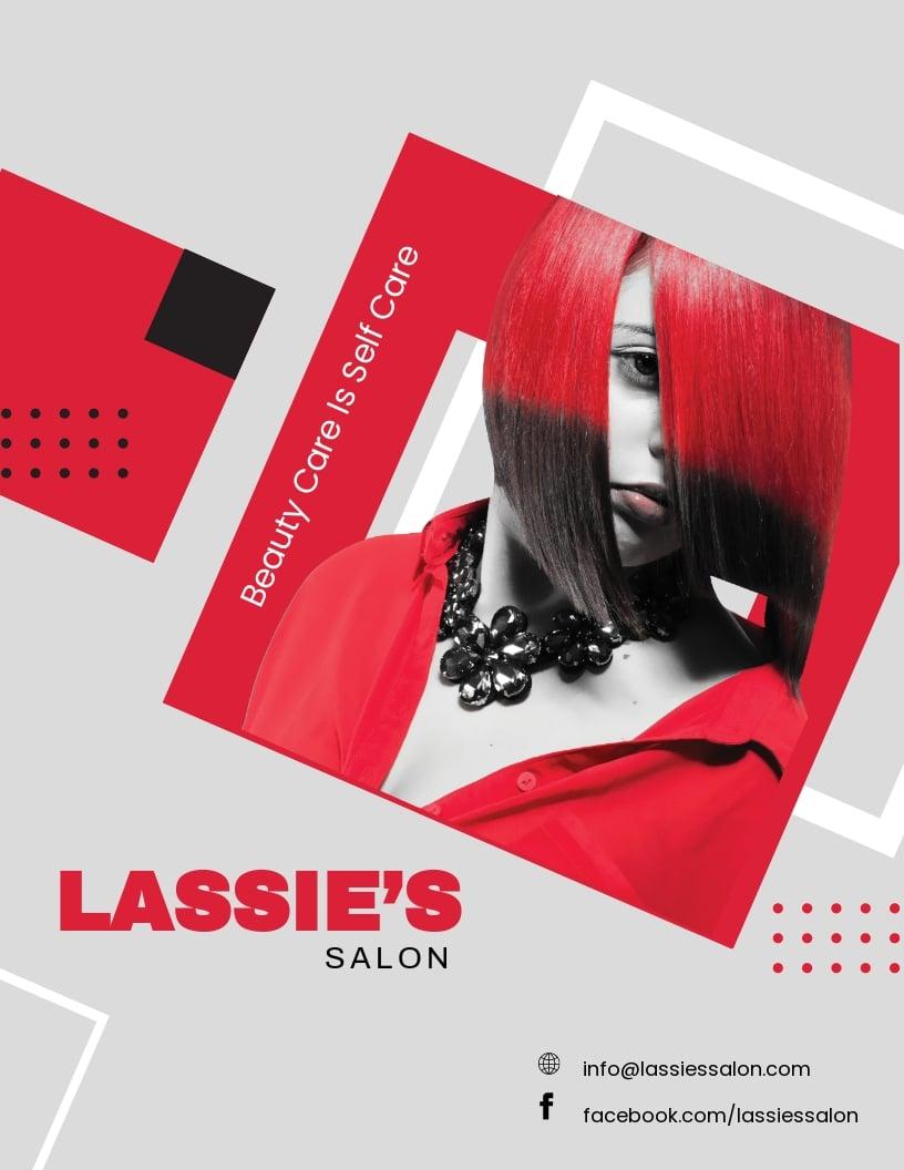 Free Hair Salon Flyer Template