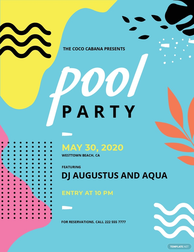Pool Party Flyer Template.jpe