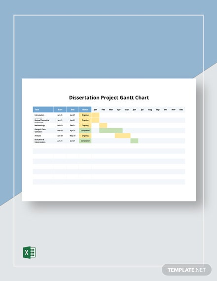 Dissertation Project Gantt Chart Template