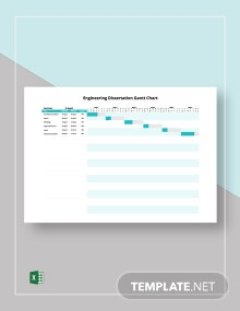Engineering Dissertation Gantt Chart Template