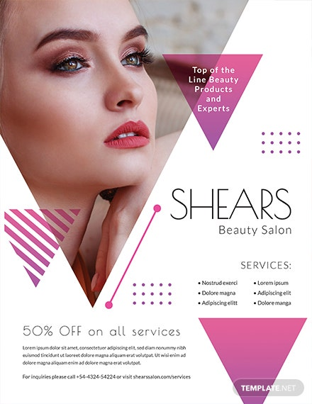 Free Salon Opening Flyer Template