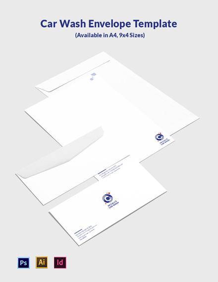 Car Wash Envelope Template