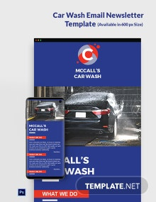 Car Wash Email Newsletter Template