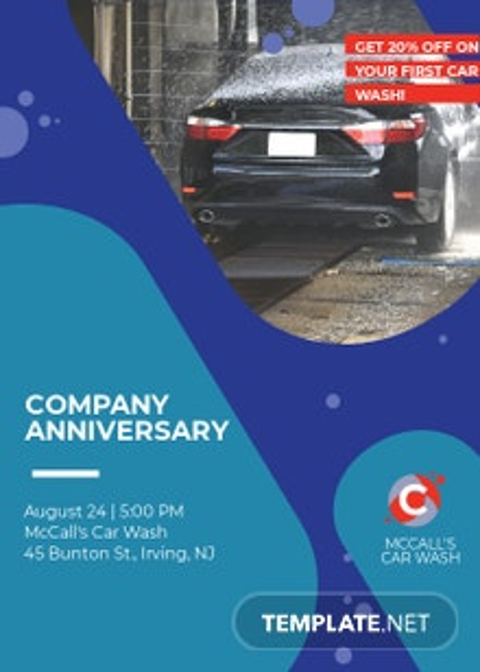 Car Wash Invitation Template