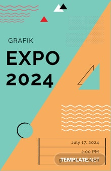 Free Exhibition Poster Template