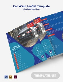 Car Wash Leaflet Template