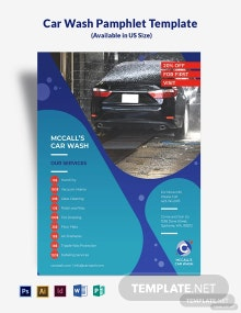 Car Wash Pamphlet Template