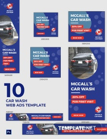Car Wash Web Ads Template