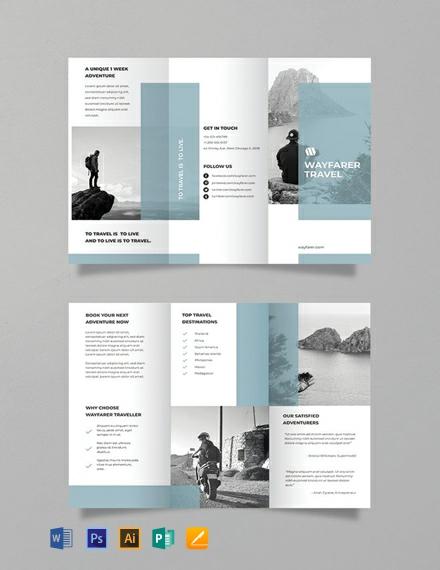 Free Simple Travel Brochure Template