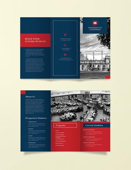 Free University Brochure Template