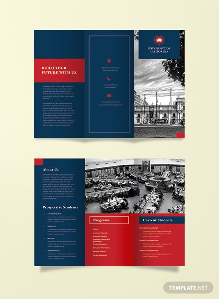 Free University Tri Fold Brochure Adobe Photoshop Illustrator