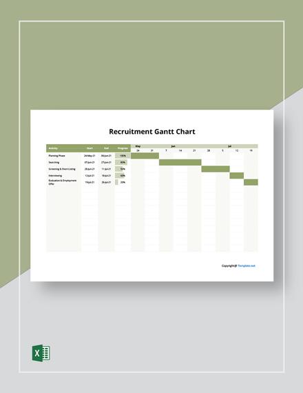 Free Sample Recruitment Gantt Chart Template
