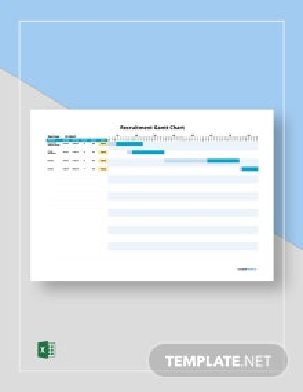 Free Simple Recruitment Gantt Chart Template