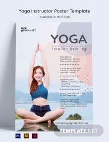 Yoga Instructor Poster Template