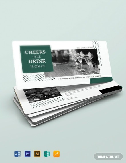 Free Drink Voucher Template