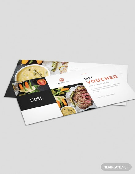 Free Food Gift Voucher Template