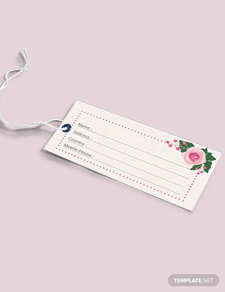 Free Wedding Luggage Tag Template
