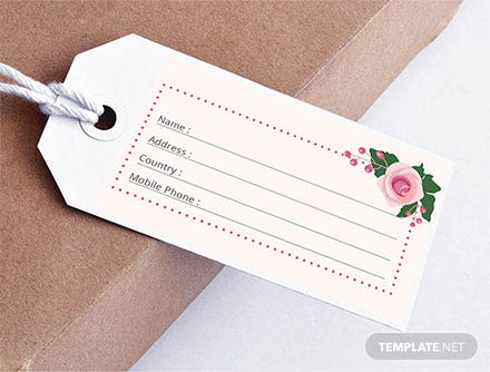 Wedding Luggage Tag Template