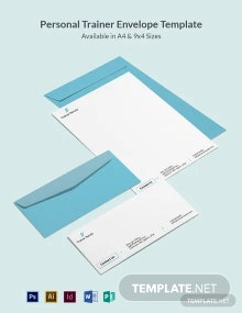 Personal Trainer Envelope Template