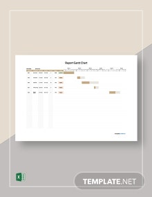 Free Simple Report Gantt Chart Template