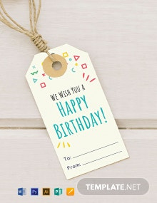 Free Birthday Gift Tag Template