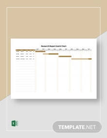 Research Report Gantt Chart Template