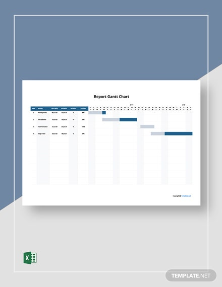 Free Sample Report Gantt Chart Template