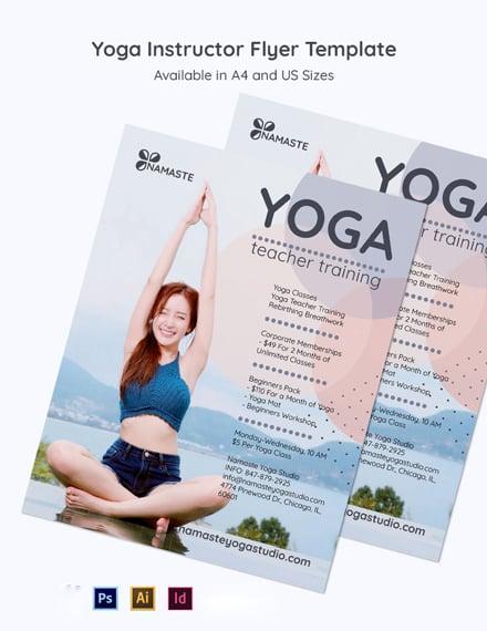 Yoga Instructor  Studio Flyer Template