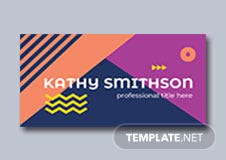 Modern Name Tag Label Template