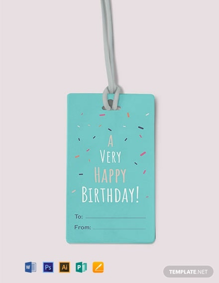 Free Simple Gift Tag Template